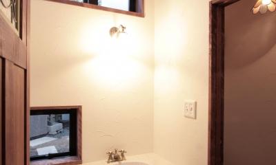 北烏山の家(庫裏、外断熱の2世帯住宅) (トイレ(1階))