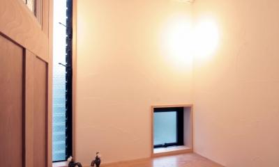 北烏山の家(庫裏、外断熱の2世帯住宅) (トイレ(2階))