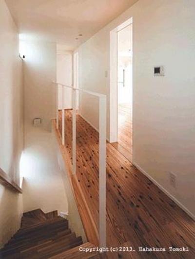 吹き抜け・階段 (朝日の家Ⅰ)