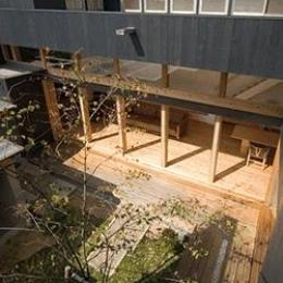 内原の家 (2階から中庭を見下ろす)