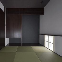 朝日の家 Ⅱ (琉球畳を敷き詰めた和室)