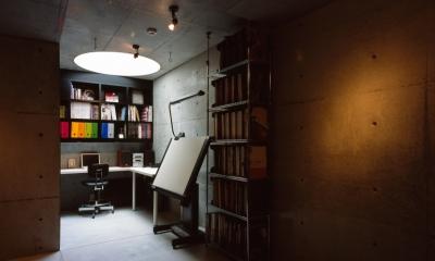 日吉台の家 (書斎)