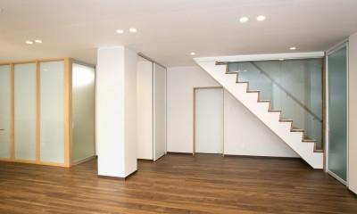 リビング|「バリアフリー」と「心地よさ」をかなえた シニア向けリフォーム:コンクリート住宅のリノベーション