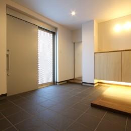 「バリアフリー」と「心地よさ」をかなえた シニア向けリフォーム:コンクリート住宅のリノベーション (玄関ホール1)