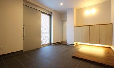 高齢を迎えるお母さま様の身を案じ、バリアフリー対策を施した住宅:コンクリート住宅の構造体を残した室内全面スケルトンリフォーム