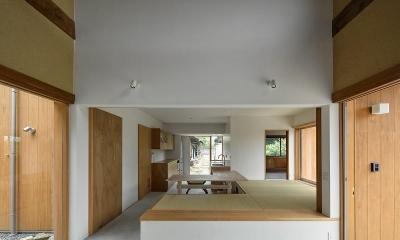 おかやまのいえ ー里山や隣近所との繋がりを住み継ぐ家ー (土間・ダイニング・キッチン)