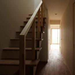 二門開口の家 (階段・廊下)