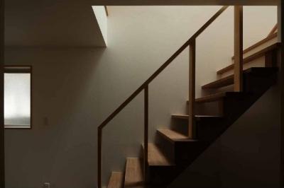 オープン型階段 (二門開口の家)