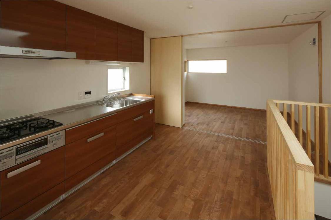 二門開口の家の写真 リビング・キッチン (間仕切open)