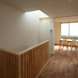 二門開口の家 (キッチン・ダイニング (間仕切open))