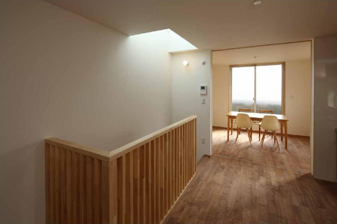 二門開口の家の部屋 キッチン・ダイニング (間仕切open)