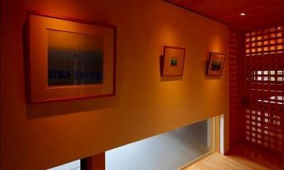 落ち着いた雰囲気の画廊|知多の家