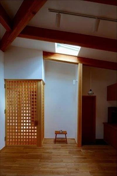 知多の家 (トップライトから光が降り注ぐ空間)