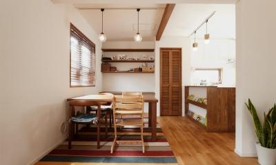 y邸・子ども達のために 自然素材で楽しくリノベーション (ダイニングキッチン)