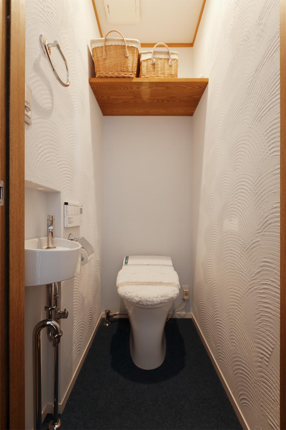 y邸・子ども達のために 自然素材で楽しくリノベーション (トイレ)