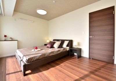 寝室 (都心で贅沢にゆったり暮らす、高級感漂うグレイスモダンスタイル)