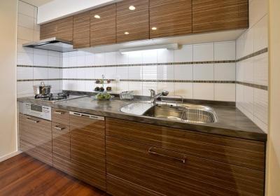 キッチン (都心で贅沢にゆったり暮らす、高級感漂うグレイスモダンスタイル)
