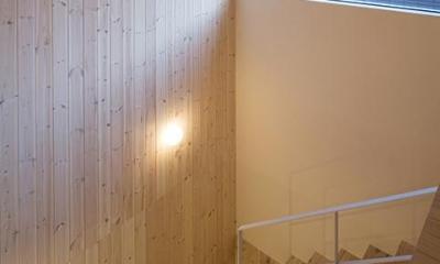 ハイサイドライトのある階段|宮の沢の家