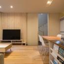 宮の沢の家の写真 アイランドキッチンのある1階LDK