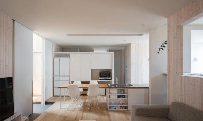 透明感のある明るい1階LDK|宮の沢の家