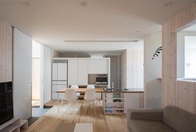 透明感のある明るい1階LDK (宮の沢の家)