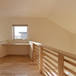 段差を繋ぐ家 (2階ホール 1)