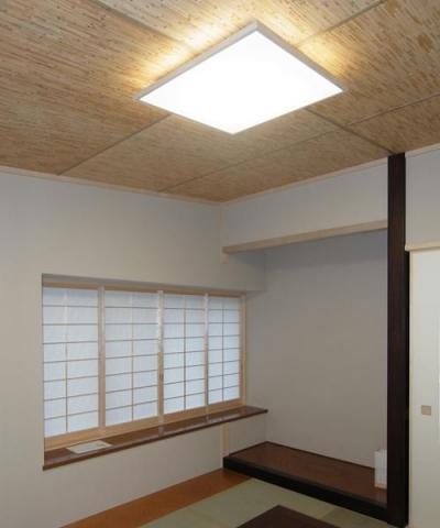 70坪・2階建て1階はRC造、2階木造の混構造・高仕様 (「新和風」の和室)