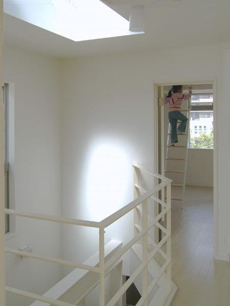 3階建てローコスト住宅 横浜 (下のリビングまで光が届くトップライト)