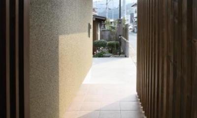玄関ポーチ|Mハウス
