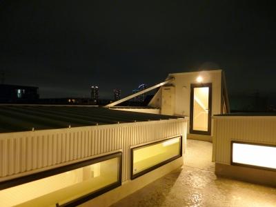 絶景の屋上 (KRYM-元住吉の医院併用二世帯住宅)