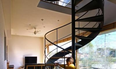 キナリの家 (オープン螺旋階段)