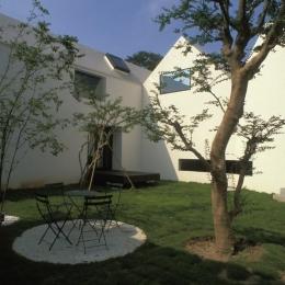 四連の家 (広々とした中庭)
