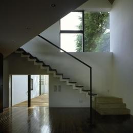 四連の家 (光が差し込む階段)