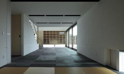 和室からリビングを望む|tsuchiura canvas