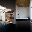 cow houseの写真 暖炉スペース・広々としたバスルーム