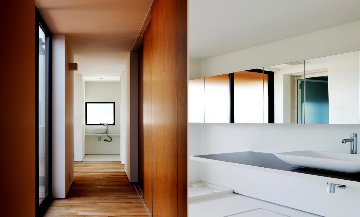 YAKの部屋 手洗い場・白を基調とした洗面エリア
