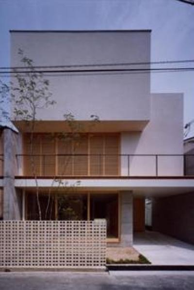 長岡京の家 Ⅰ (木格子が印象的な外観)