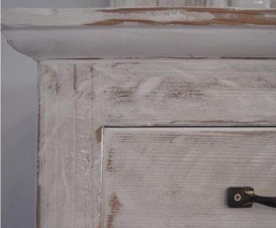 白いアンティーク仕上げの食器棚 3 (SAT-HOUSE)