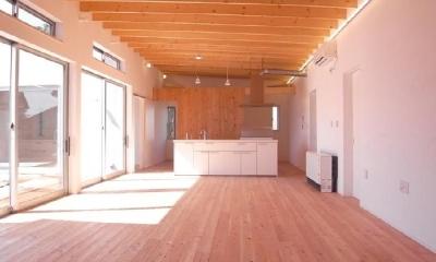 アイランドキッチンのある開放的なLDK 2|SD-HOUSE