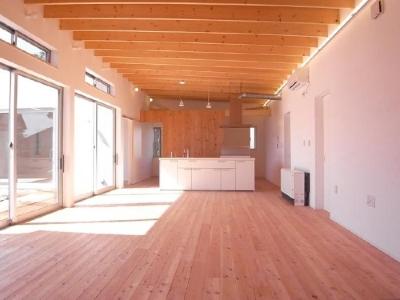アイランドキッチンのある開放的なLDK 2 (SD-HOUSE)
