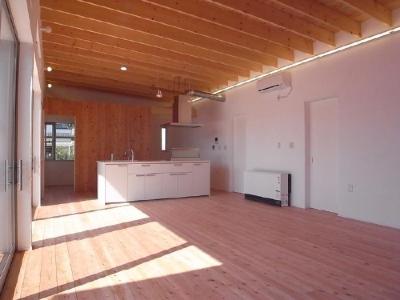 アイランドキッチンのある開放的なLDK 1 (SD-HOUSE)