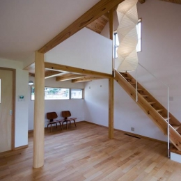 吹き抜けのある居間 1 (goma_House)
