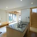 オープンなキッチンのあるダイニングスペース 1