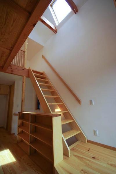 ロフトへ繋がる階段 (S.H._House)