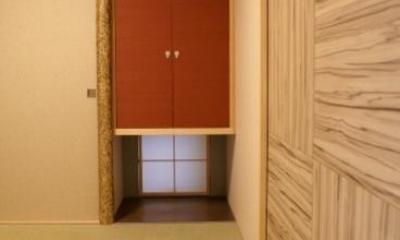 KO邸/吹抜空間のある都心のコートハウス (地下の和室)