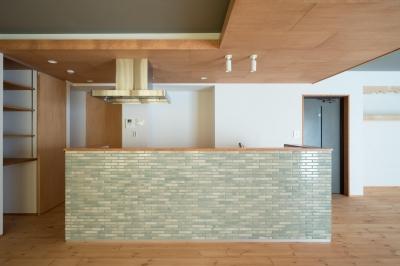キッチン (パントリーを備えたキッチンのある家:『杉田のリノベーションA』)