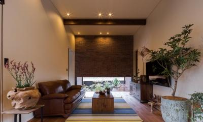上富田町平屋の家 H邸 (落ち着きのあるリビング)