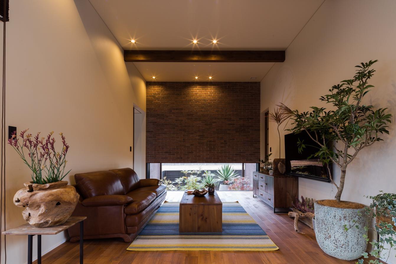 上富田町平屋の家 H邸の部屋 落ち着きのあるリビング
