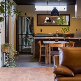上富田町平屋の家 H邸-スッキリとまとまりのあるキッチン空間