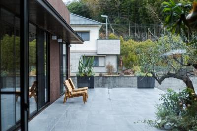 上富田町平屋の家 H邸 (広々としたテラス)
